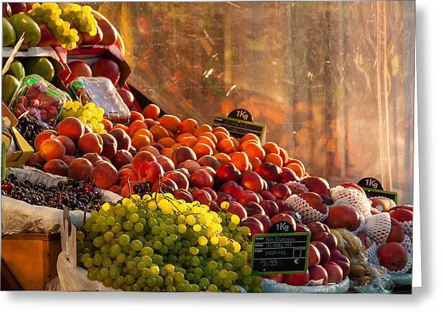 Fruit Stall Greeting Card