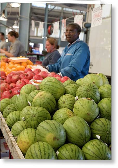 Fruit Stall Greeting Card by Jim West