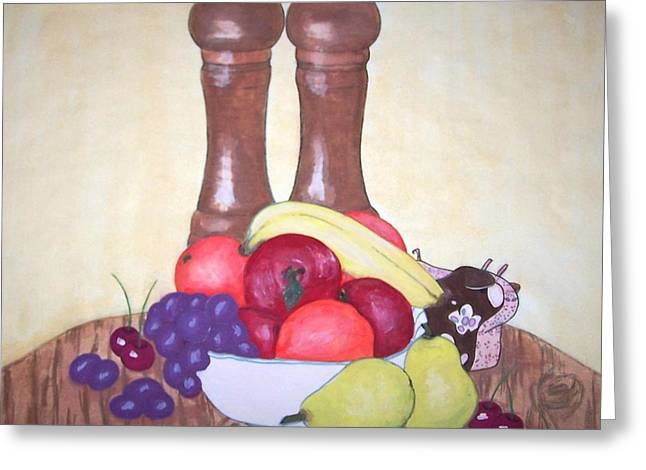 Fruit Table Greeting Card