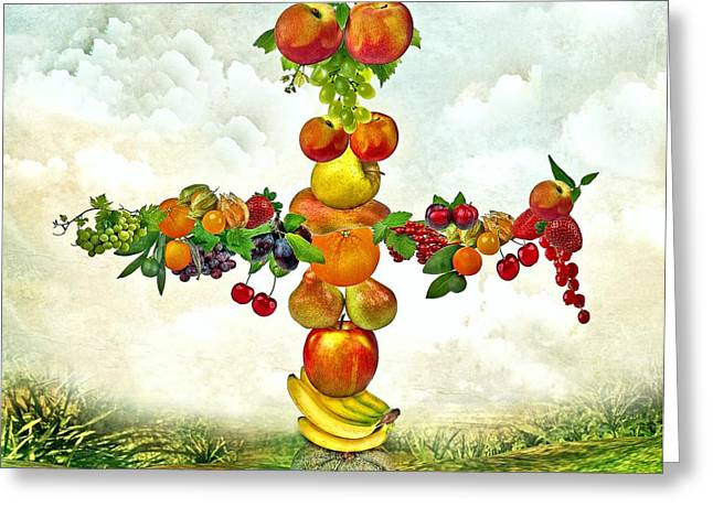 Fruit Tree Greeting Card by Manfred Lutzius