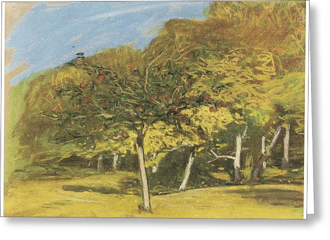Fruit Trees Greeting Card by Claude Monet