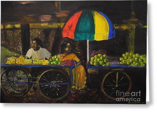 Fruit Vendors Greeting Card