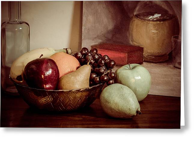 Fruit With Painting Greeting Card