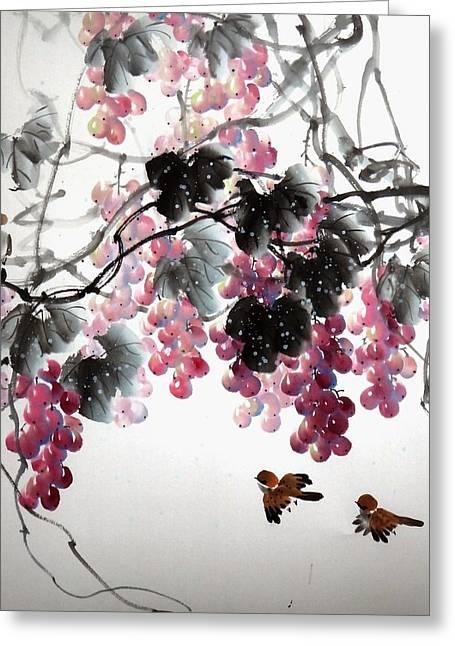Fruitfull Size 3 Greeting Card by Mao Lin Wang