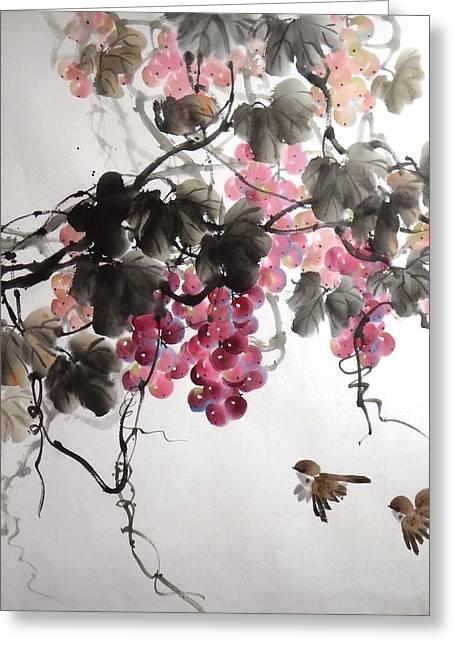 Fruitfull Size 5 Greeting Card by Mao Lin Wang