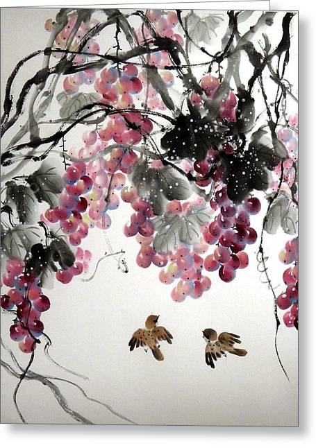 Fruitfull Size Greeting Card by Mao Lin Wang