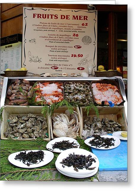 Greeting Card featuring the photograph Fruits De Mer by Cleaster Cotton