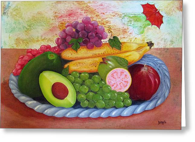 Fruits Delight Greeting Card