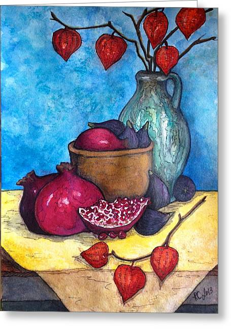 Fruits Of Season  Greeting Card by Rae Chichilnitsky