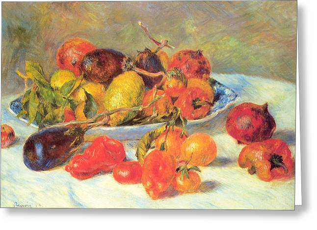 Greeting Card featuring the painting Fruits Of The Midi  by Renoir