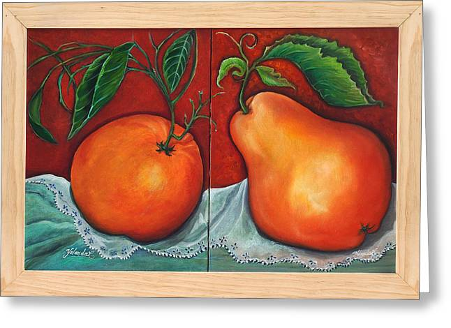 Fruits Pears Greeting Card