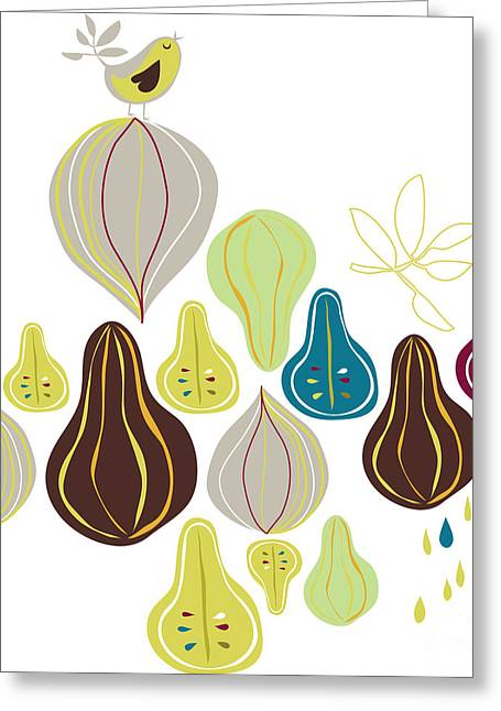 Fruits Wallpaper Greeting Card