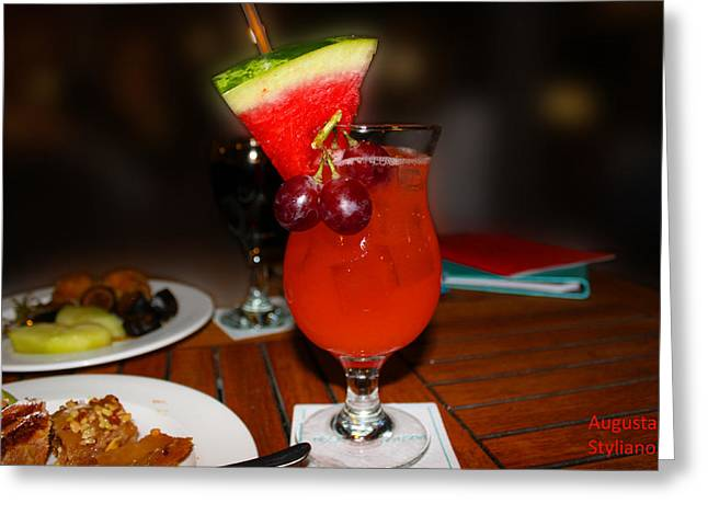 Fruity Coctail Greeting Card