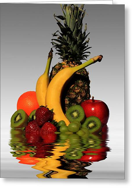 Fruity Reflections - Light Greeting Card by Shane Bechler