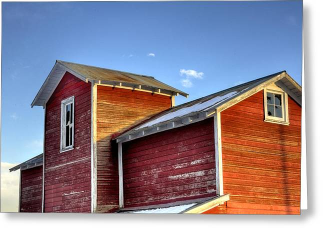 Ft Collins Barn Sunset 13505 Greeting Card by Jerry Sodorff