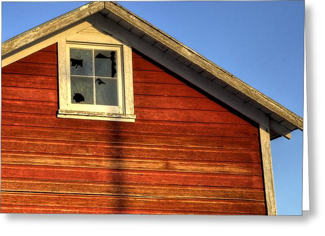 Ft Collins Barn Sunset 2 13508 Greeting Card by Jerry Sodorff