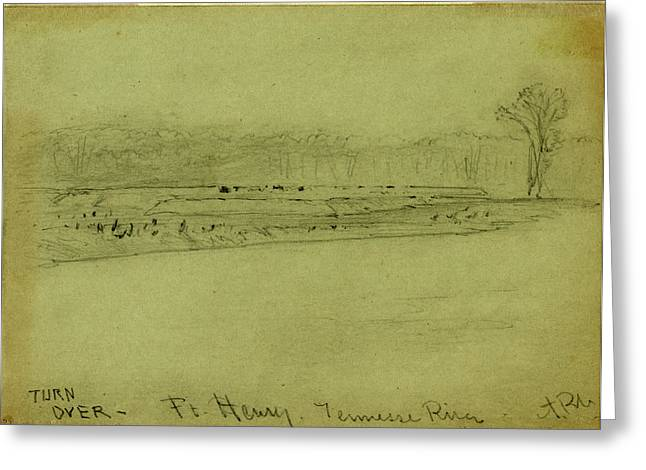 Ft. Henry. Tennessee River Greeting Card by Quint Lox