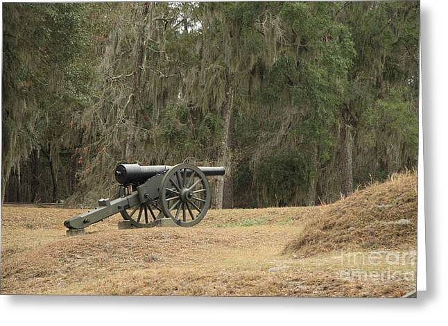Ft. Mcallister Cannon 2 In Color Greeting Card