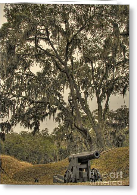 Ft. Mcallister Cannon 3 Greeting Card