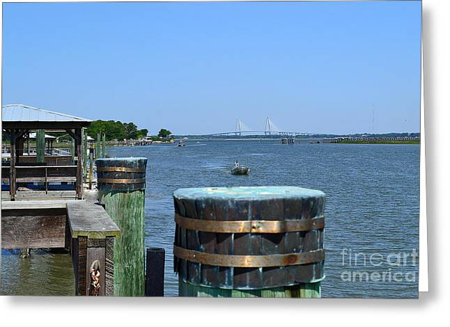 Ft Moultrie Pier View Greeting Card