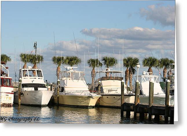 Ft. Pierce Marina Greeting Card