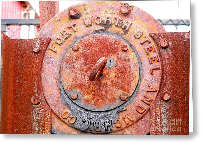 Ft Worth Steel Greeting Card by Angela Wright