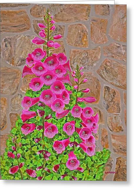 Fuchsia Profusion Greeting Card by Donna  Manaraze