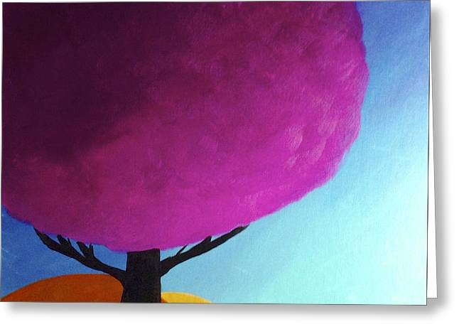 Greeting Card featuring the painting Fuchsia Tree by Anita Lewis
