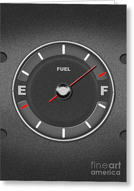 Fuel Gauge Greeting Card by Mike Agliolo