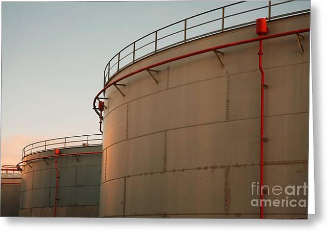Fuel Tanks Greeting Card by Gaspar Avila