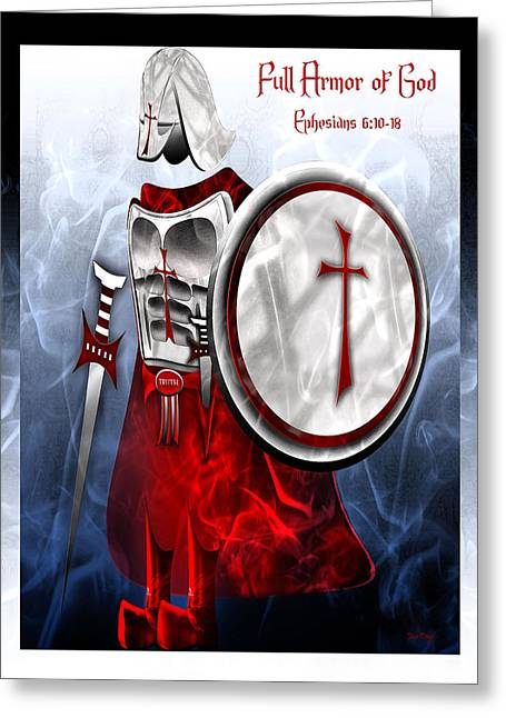 Full Armor Of God Greeting Card by Jennifer Page