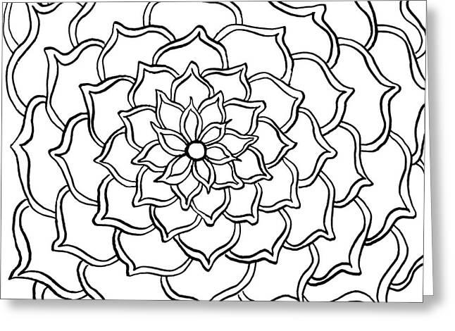 Full Bloom I  Greeting Card by Anita Lewis
