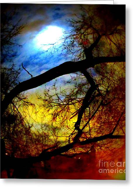 Full Crow Moon Greeting Card by Maria Scarfone