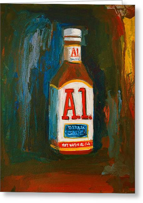 Full Flavored - A.1 Steak Sauce Greeting Card