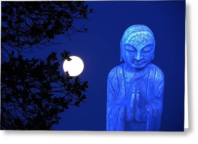 Full Moon Buddha Greeting Card