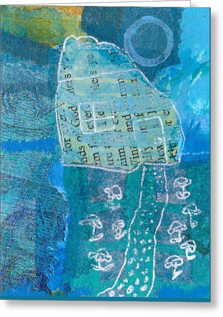Greeting Card featuring the mixed media Full Moon by Catherine Redmayne