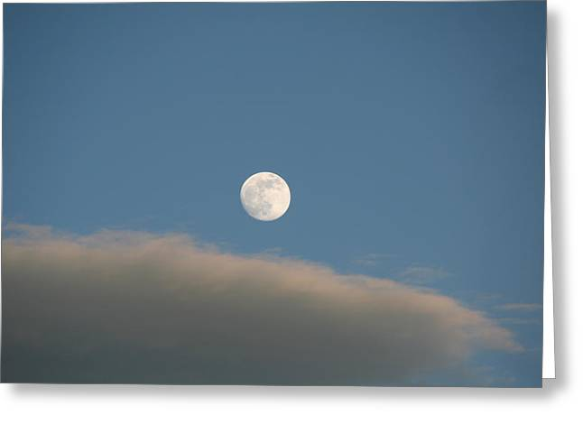 Greeting Card featuring the photograph Full Moon by David S Reynolds