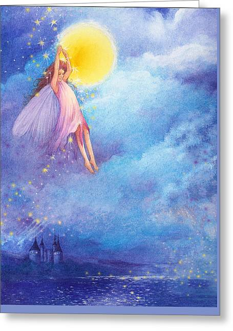Full Moon Fairy Nocturne Greeting Card