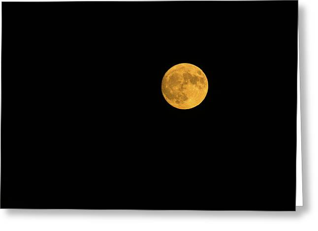 Full Moon In The Sky At Night Greeting Card