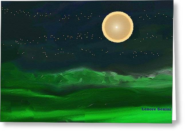 Full Moon Greeting Card by Lenore Senior
