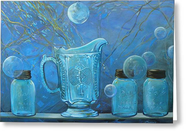 Full Moon Light Greeting Card by Lynne Summers