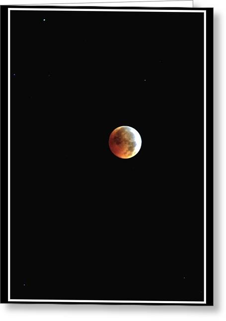 Greeting Card featuring the photograph Full Moon Lunar Eclipse by Kelly Nowak