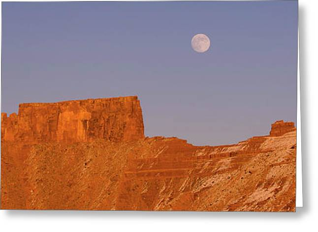 Full Moon Over Castleton Tower, Castle Greeting Card