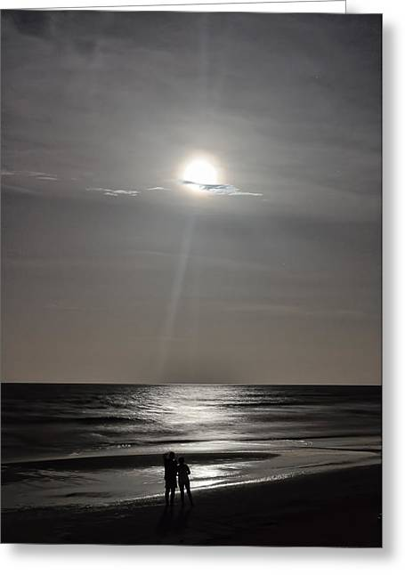 Full Moon Over Daytona Beach Greeting Card