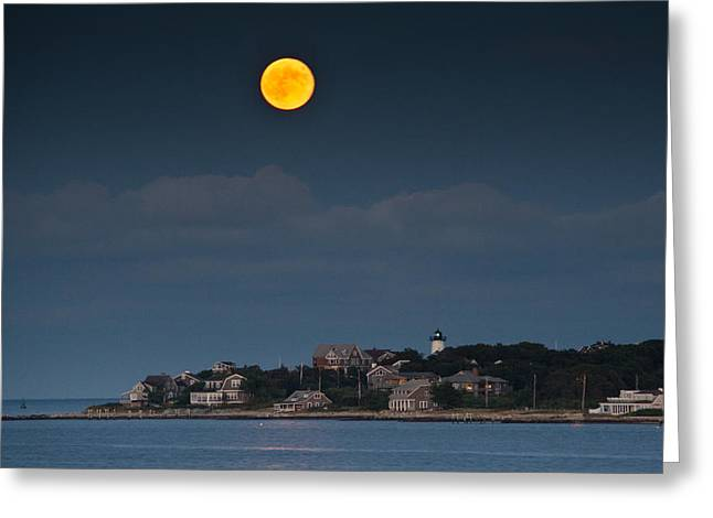 Full Moon Over East Chop Greeting Card