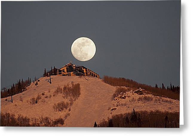 Full Moon Over Hazies Greeting Card