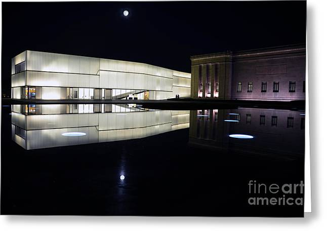 Full Moon Over Nelson Atkins Museum In Kansas City Greeting Card