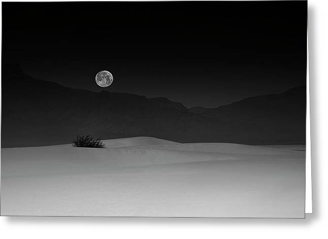 Full Moon Over White Sands Greeting Card