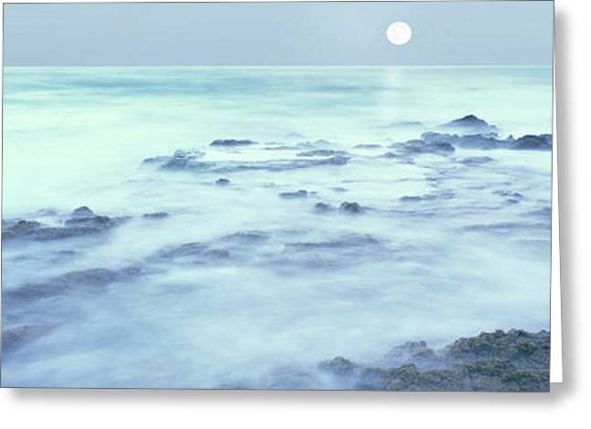 Full Moon Presides Over The Baja Greeting Card by Panoramic Images