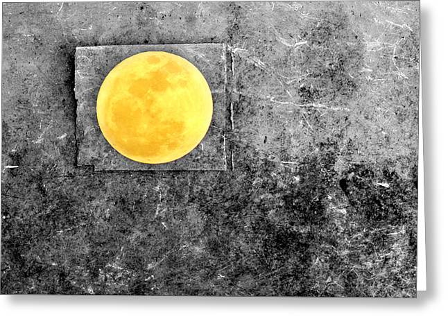Full Moon Greeting Card by Rebecca Sherman